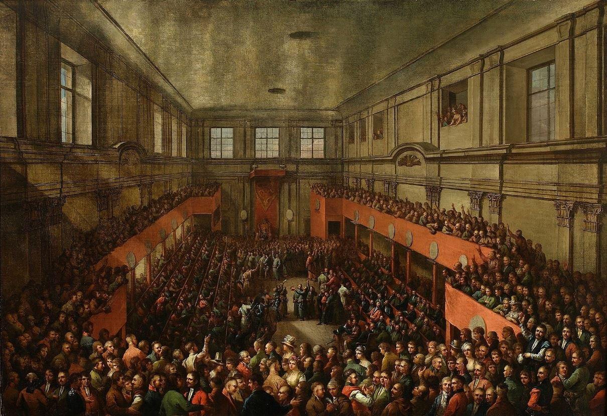 """K.Wojniakowskio paveikslas """"Gegužės 3-iosios konstitucijos priėmimas"""""""
