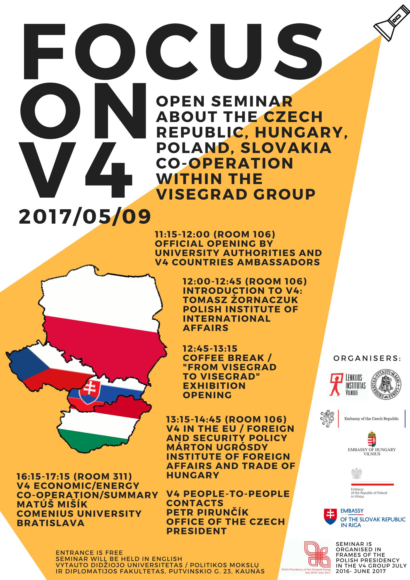 Focus On V4 Seminar About Visegrad Group Co Operation Vdu